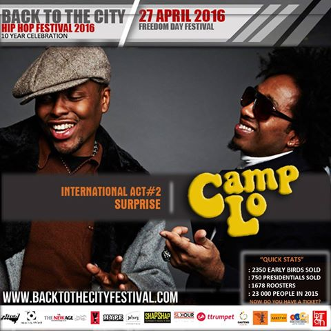Camp Lo Back To The City 10 Year Anniversary Hip-Hop Festival South Africa